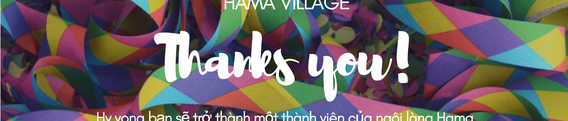 Hama thank you page